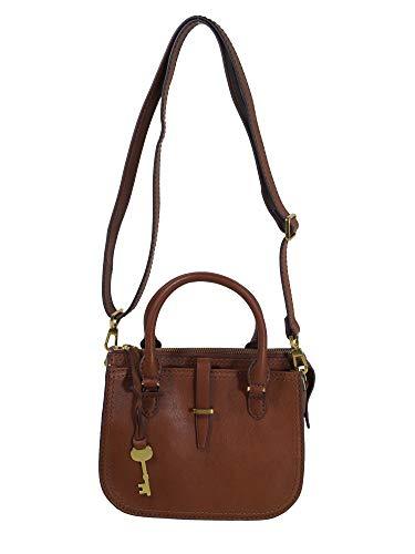 Fossil Damen Handtasche Tasche Ryder Mini Satchel Leder Braun ZB7587-200 -