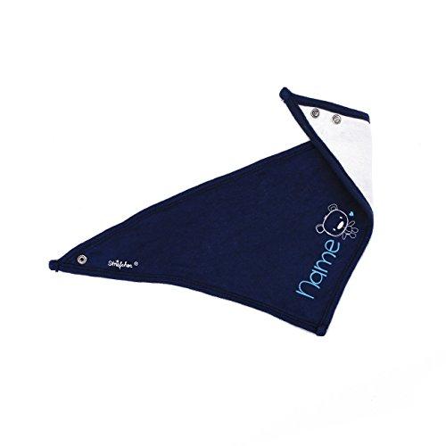Striefchen® Striefchen® Baby Halstuch aus weicher Baumwolle mit Namen in Blau - niedlicher Teddy - ideal als Babygeschenk