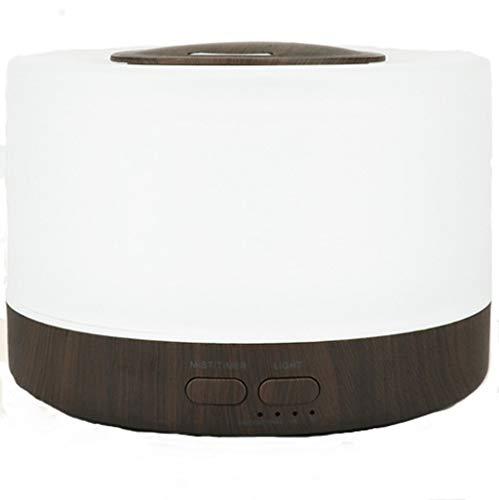 Difusor Aromaterapia,STRIR 500ml Difusor Humidificador Aceites Esenciales de Madera Para Habitación Grande con Modo De Vapor Ajustable, 4 Configuraciones de Temporizador y 8 Luces de Colores (Negro)