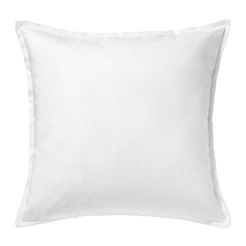 Ikea Gurli Kissenbezug in weiß, Größe 50 cm x 50cm., weiß, 2er-Packung (Ikea Kissenbezüge)