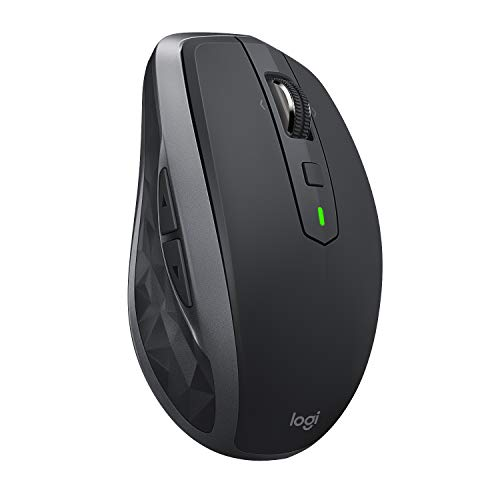 Price comparison product image Logitech MX Anywhere 2S,  Wireless Mouse Bluetooth,  USB Receiver for Mac and Windows,  Rechargeable Battery,  Hyper-Fast Scrolling,  Multi-Device Control,  7 Customisable Buttons,  Graphite