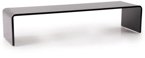 TV Schrank-Aufsatz 90 cm Glas Fernsehtisch Glasplatte Glasaufsatz Glastisch Hagen B153085-4 schwarz