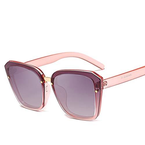 YWYU Europäischer und amerikanischer Trend New Square Large Frame Sonnenbrille Koreanische Mode Männer und Frauen Allgemeine Modelle Sonnenbrillen Fahren Sonnenbrillen (Farbe : C)