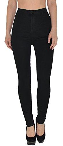by-tex Damen High Waist Jeans Hose Damen Jeanshose Skinny Hochbund Hose in vielen aktuellen Farben Z92 (Plus Größe Hosen-jeans)