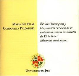 Descargar Libro Estudios fisiológicos y bioquímicos del ciclo de la glutamato sintasa en nódulos de vicia faba: efecto del estrés salino. (CD Tesis) de María del Pilar Cordovilla Palomares