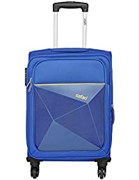 Safari Prisma 57 Cms Polyester Blue Cabin 4 wheels  Soft Suitcase
