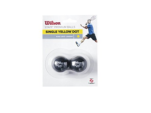 Preisvergleich Produktbild Wilson Squash-Ball,  Staff,  1 Stück,  Gelb I,  Schwarz,  WRT617300