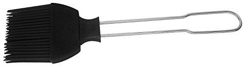 Fackelmann Backpinsel, Küchen-Pinsel mit Silikon-Borsten, hochwertiger Bratpinsel (Farbe: Silber/Schwarz), Menge: 1 Stück