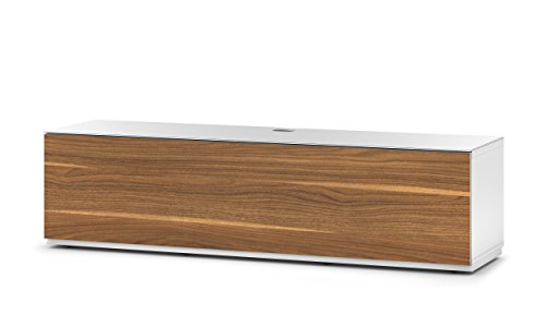 Accord Sonorous ST160F Glass and Wood Ready Assembled Cabinet with IR Repeater System for TV Upto 70-Inch - White/Walnut