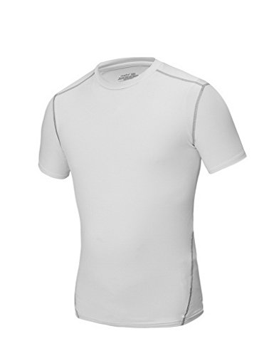 3 Light Medium Base (Jimmy Design Herren Kompression Tops, Fitness Printed Short Sleeve Base Layers Medium Pure-White)