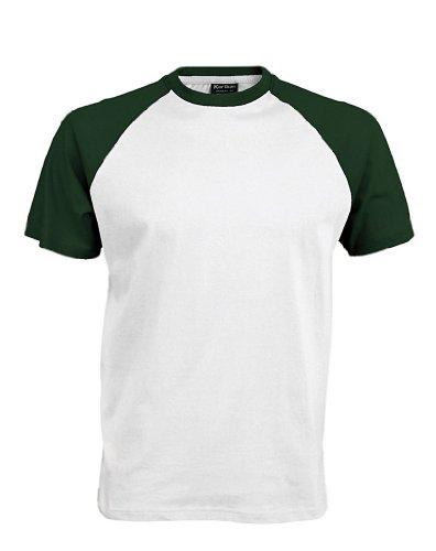 Baseball T-Shirt White/Forest Green