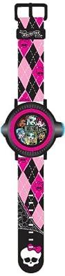 Sablon MHRJ13 Monster High - Reloj de pulsera con pantalla LCD y función de proyección de Sablon