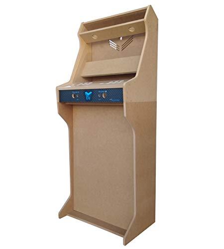 """TALENTEC Kit bartop + Pedestal 19"""" en Madera DM + metacrilato acrílico para máquina recreativa Arcade DIY. Orificios de 28 mm para joysticks y Botones."""