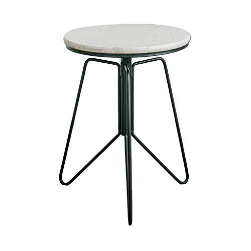 cozyhome AA Marmor Couchtisch, Home Schmiedeeisen Sofa Ecke, mehrere Wohnzimmer runden Tisch Tisch Höhenverstellung Zuhause (Farbe : D)