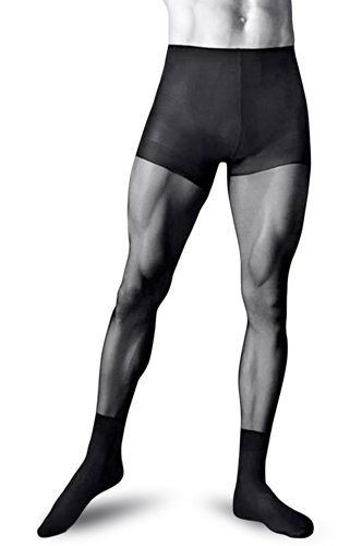 Männerstrumpfhose 'Smart' Herren Schwarz Strumpfhose Knittex (Medium)