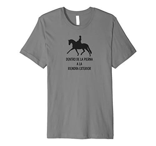 Innen Bein nach außen Zügel DRESSUR Spanisch Pferd T-Shirt