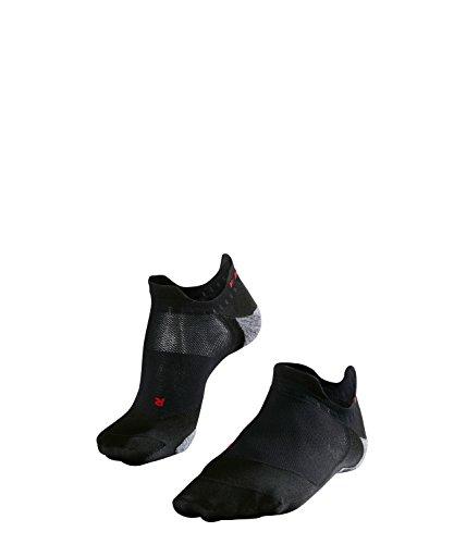 FALKE Herren Füsslinge / kurze Laufsocken RU5 Invisible - 1 Paar, Gr. 44-45, schwarz, feuchtigkeitsregulierend, Sportsocken Running