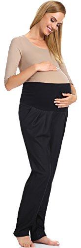 Be Mammy Pantalon de Maternité Femme GX210 Noir