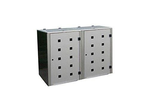 Mülltonnenbox Edelstahl, Modell Eleganza Quad5, 120 Liter als Zweierbox