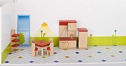 cama24com Puppenmöbel Küche aus Holz goki Basic Puppenhaus Puppenstube mit Palandi® Sticker