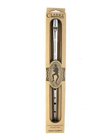 Clarke Whistles Tin Whistle Penny Nickel-D Clé de D- Boîte cadeau incluse