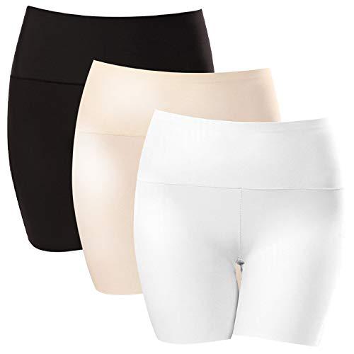 Voqeen 3er Pack Seamless Panty Damen Unterhosen Hipster Slip Damen Sexy Unterwäsche Pantys Damen Hoher Taille Seamless Nahtlose Shorts Boyshort Panty Unterwäsche Elastisch Basic Unterhosen -