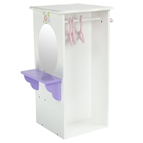 Olivia's Little World TD-0094A 18-Inch Little Princess Doll Furniture Dresser with 3 Hangers by Olivia's Little World