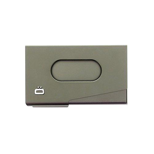 Ogon One Touch Aluminium Distributeur De Cartes Visite RFID Safe En Gris Fonce