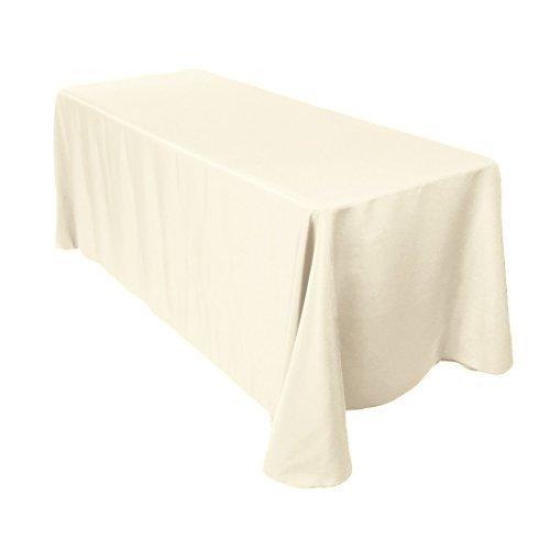 Rechteckige Baumwolle Tischdecke, Polyester, Bezug für Hochzeit, Esstisch und Geburtstag Party 228,6x 396,2cm von Hochzeit liefert, Textil, Single, Ivory