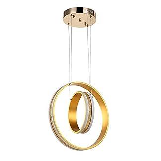 Lampadario postmoderno, lampadario a LED, lampadaletto rotondaalluminio dorato