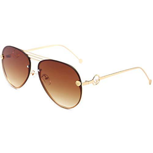 CHKE Klassische Fliegersonnenbrille, Outdoor-Mode Damen Sonnenbrille Big Box Sonnenbrille Herren Klassische Vielseitige Sonnenbrille Unisex Driving Sonnenbrille,Brown