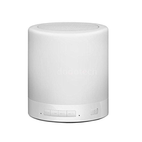 Preisvergleich Produktbild 2-in-1 Berührungssensitiv LED Lampe Nachttischlampe Beleuchtung Warm Weiß + Tragbar Bluetooth Lautsprecher Kabellos 5W