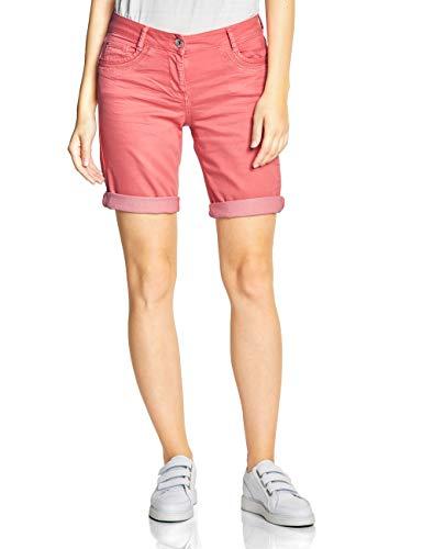 CECIL Damen 372198 New York Shorts, Rot (neo coralline red), W30 (Herstellergröße:30)