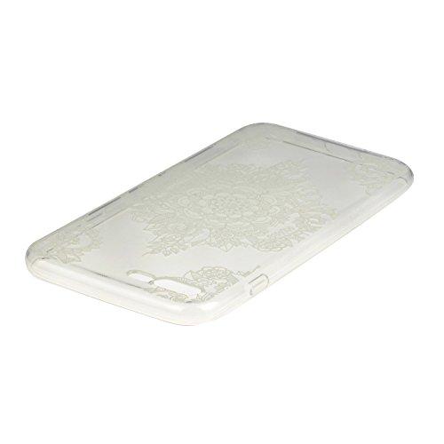 TPU für Apple iPhone 7 Plus (5.5 Zoll) PC Hardcover BackCover Hülle Carving Relief Schutzhülle Mode Fashion Design Pattern Ultra Slim TPU Silikon für Apple iPhone 7 Plus (5.5 Zoll) +Staubstecker (6MM) 6