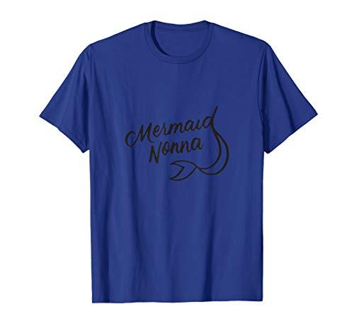 Mermaid Nonna Meerjungfrau-Motiv Geburtstagsparty Familie T-Shirt