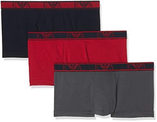Emporio Armani Underwear Herren 111357 Shorts, Mehrfarbig (Marine/Rubino/Antrac 54735), Small