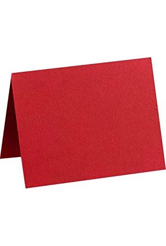 # 17Mini tarjeta de plegado (29/16x 39/16)–rojo rubí–paquete de 50