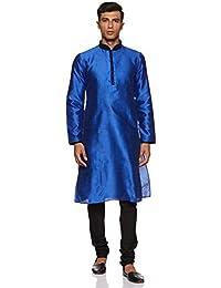 Manyavar Men's Silk Kurta Churidar