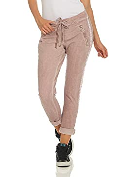 ZARMEXX Pantalones para Mujer Pantalones Casuales de algodón con Rayas 816133 Novios Ocasionales de Negocios