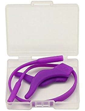 EnzoDate 3 Juegos Paquete Niños Gafas Silicona Cord & Stay Puts, Lentes para los niños Cerraduras de oído con...