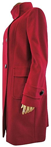 jaeger-red-button-up-wool-angora-winter-coat-size-uk-16
