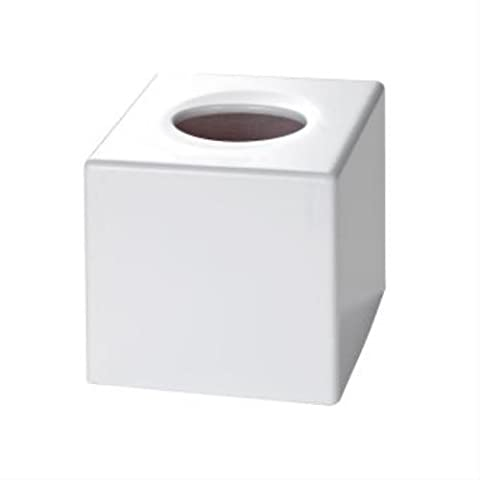 Corby of Windsor, Satin White Cube Tissue Box Cover (Case