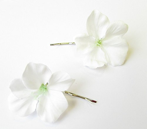 Blume Haarspangen Clips Brautjungfer Bobby Pins Folien 50s 2108Stil der Zwanzigerjahre (Hibiskus Haarspange)