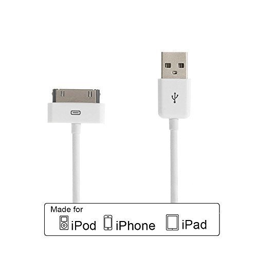 Poweradd [Apple MFi Zertifiziert] Apple Synchronisieren-und Laden-Kabel mit 30 Pin Anschluss fuer iPhone 4S 4 3GS, iPad 2 3, iPod touch 2 3 4, iPod nano 6 ¡