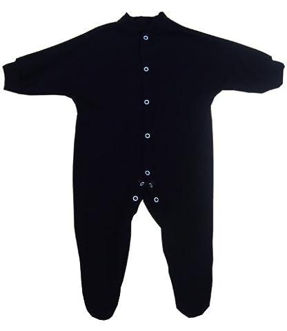 1 'ONE' Plain Coloured Cotton Baby Sleepsuit Babygro - From