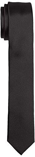 Calvin Klein Herren Krawatte TREND SLIM 5 cm Schwarz (Black 001), One size