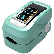 ELECT Pulsioxímetro de Dedo con Alarma, esfigmomanómetro, medidor de frecuencia cardíaca portátil de saturación