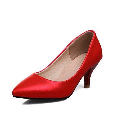 Zormey Frauen Heels Frühling Sommer Formelle Schuhe Kunstleder Büro & Amp; Karriere Dress Casual Kitten Heel Rot Pink Rot Violett Weiß US9 / EU40 / UK7 / CN41