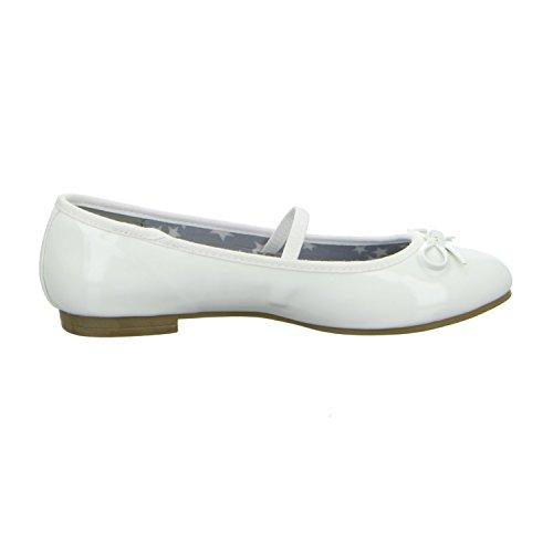 girlZ onlY 422217/109 Mädchen Ballerina Sportboden Weiß (Weiß)