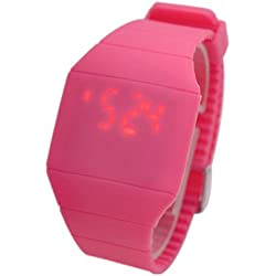 JS Direct Ultra-Thin Unisex Touch Screen LED Digital Silicone Sport Wrist Watch/ Boy Girl Led Quartz Watch/ Plum
